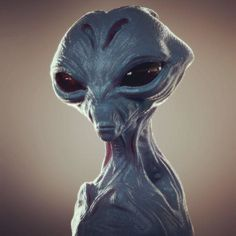 Raw sculpt from medium KS Grey Alien, Aliens And Ufos, Alien Art, 3d Painting, Zbrush, Sculpting, Video Game, Sci Fi, Fiction
