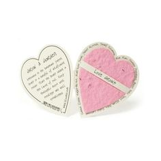 BLM-EC-H210 Seed Paper Gift Enclosure Card - Pink Heart
