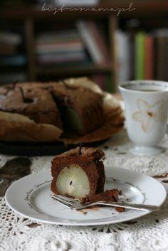 bistro mama: Ciasto czekoladowe z gruszkami