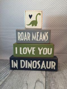 Sign block dinosaur room decoration primitive by AppleJackDesign