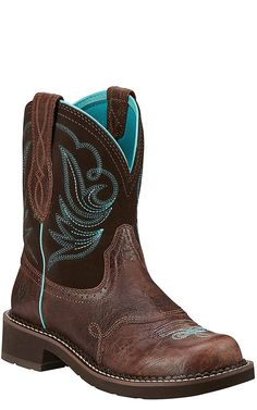 Ariat Fatbaby Heritage Dapper Women's Royal Chocolate with Fudge Top Western Boot   Cavender's