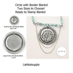 Round Blanks Circle with BORDER Metal Stamping by Lakikaisupply