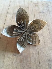 Book Page Flower Tutorial                                                                                                                                                                                 More