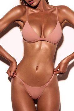 2208f060a8 Collar   neckline Spaghetti Strap Bikini Bikini Set