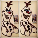 Har perla STOR Olaf ☺️ Måtte legge iPhone'n ved siden av for å vise hvor stor  #olaf #frost #frozen #hama #perle #iphone5s