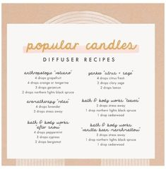 Essential Oils Guide, Young Living Essential Oils, Essential Oil Combinations, Essential Oil Candles, Diffuser Recipes, Essential Oil Diffuser Blends, Just In Case, Body Works, Candle Jars