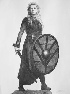 Vikings Lagertha drawing by Zontal
