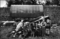 Photo: Josef Koudelka  Gypsy children, IRELAND 1977 ( love how the goat got up in the picture )