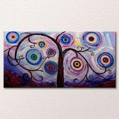 Wheel Tree - Abstract Tree Nature Canvas Art - Oil Painting