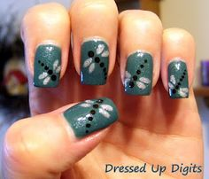 Dragon Flys.... omg I am totally doing this on one nail next time I get my nails done!!!