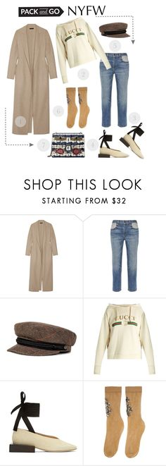 """Pack for NYFW"" by shica-du ❤ liked on Polyvore featuring The Row, Alexander Wang, Brixton, Gucci, Jacquemus and Dolce&Gabbana"