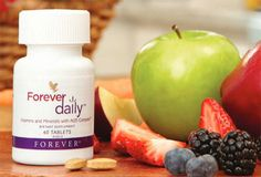 Forever Daily™ with AOS Complex™ provides the most advanced nutrient delivery system available. Our proprietary new formula contains 55 perfectly balanced, aloe-coated nutrients, including recommended daily allowances of essential vitamins and minerals.