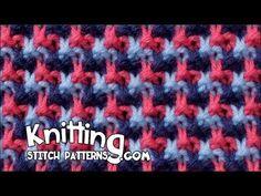 Triple L Tweed stitch | Mosiac knitting - YouTube