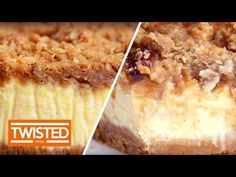 Apple Crumble Cheesecake | Twisted Food - YouTube