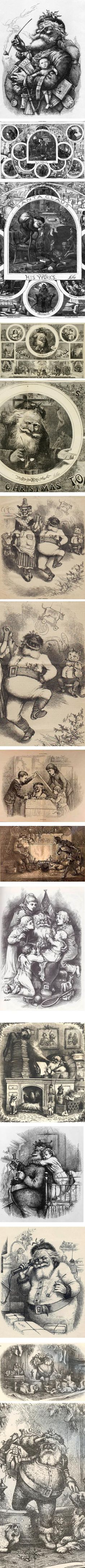 Thomas Nast's Santa Claus illustrations