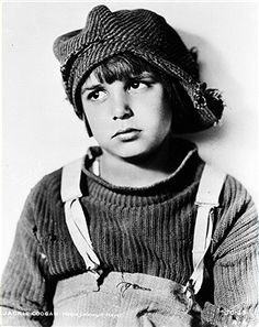 American actor Jackie Coogan in costume as he appears in the movie 'The Kid'