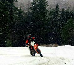 Daniel 9year #ktm85 #ktm #monster #norway #snow #winter #motocross #mx