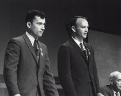 Gemini 10 astronauts John Young and Michael Collins