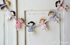 Little Doll Garland - girl. Inspired.