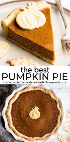 Low Carb Pumpkin Pie, Easy Pumpkin Pie, Vegan Pumpkin Pie, Pumpkin Pie Bars, Homemade Pumpkin Pie, Pumpkin Pie Recipes, Pumpkin Dessert, Pumkin Pie, One Pie Pumpkin Pie Recipe