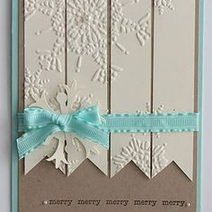 Simple Snowflake Card,,, Love this...so many possibilities beyond snow flakes