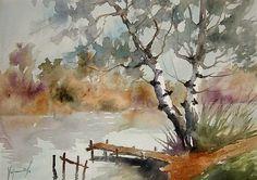 watercolor landscape.../())=(*WWRBBNJZU097 by sinisa vojnovic