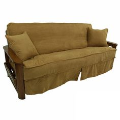 Give Your Futon A Unique New Look With This Skirted Slipcover Available In Diffe Stylish Colors To Match Home Decor