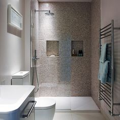 Shower room ideas to help you plan the best space Schmaler Duschraum Duschräume 2 Jonathan Gooch Wet Room Bathroom, Bathroom Layout, Simple Bathroom, Modern Bathroom Design, Bathroom Interior Design, Bath Room, Bathroom Ideas, Bathroom Showers, Bathroom Designs