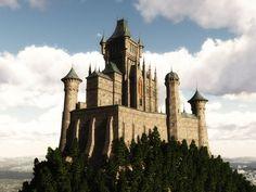 Gothic castle digital model