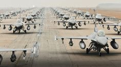 The Coolest Photo Of Grounded F-16s Ever Taken