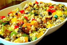 Has anyone else ever had arguments about whether couscous is a pasta or a grain? It is probably just me… I am in the couscous is a pasta camp, and have tried to sway others. Salad Recipes, Vegan Recipes, Cooking Recipes, Couscous Recipes, Yummy Recipes, Pasta With Green Beans, Israeli Couscous Salad, Arroz Frito, Man Food