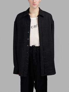 ANN DEMEULEMEESTER ANN DEMEULEMEESTER MEN'S BLACK SHIRT. #anndemeulemeester #cloth #