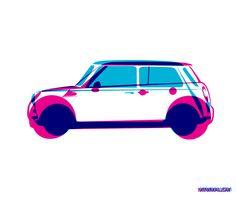 BMW Mini - Illustration - excites   Graphic Designer   Simon C Page
