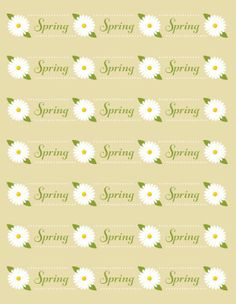 spring flowers water bottle label printable fits standard 16.9 oz water bottles.  #water #labels