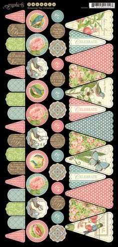 Graphic 45 > Botanical Tea > Botanical Tea Banners - Graphic 45 - PRE ORDER: A Cherry On Top