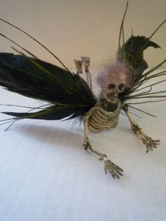Halloween decoration skull skeleton goth creepy by MummersDream