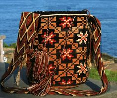 Large Chila Wayuu Bag 13 x in 20 strap by TataWayuu Drawstring Backpack, Backpacks, Bags, Handbags, Drawstring Backpack Tutorial, Dime Bags, Women's Backpack, Lv Bags, Purses