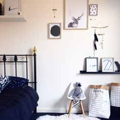 Stylish, minimalist, boys room my Yorkelee Prints.