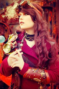 Steampunk Woman via http://steampunkgasoline.tumblr.com/post/25110534299/x