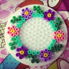 Flower wreath hama perler beads by hansenhelena