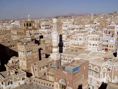 Sana'a, the capital of Yemen. Shiite militants took over the central bank and three ministries on September, 21, 2014. They took over the airport the week before.