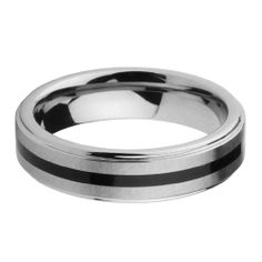 6mm Rubber Inlay Men's Cobalt Free Tungsten Carbide COMFORT-FIT Wedding Band Ring (Size 5 to 15)