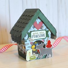 """""""You are Pawsome"""" shaped gift box by Jana Eubank featuring the """"A Dog's Tail"""" collection by #EchoParkPaper"""