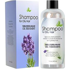 Natural Oily Hair Shampoo for Men and Women with Sensitive Scalp & Greasy Hair – Sulfate Free Keratin Hair Care for Color Treated Hair – Pure Rosemary Jojoba Lavender Oil for Hair Growth – 16 oz Oily Hair Shampoo, Best Dry Shampoo, Natural Hair Shampoo, Mens Shampoo, Oily Scalp, Best Shampoos, Sensitive Scalp, Lavender Oil For Hair, Hair Oil For Dry Hair
