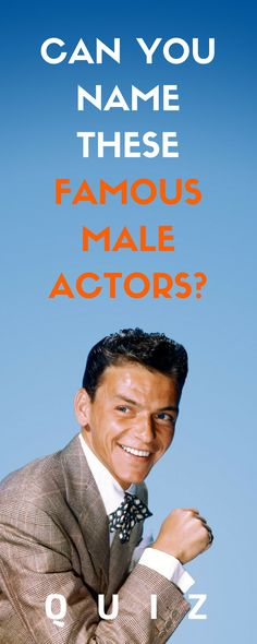 These male actors are pretty awesome when they show themselves on the widescreen. Can you name them? Try to recall their identities with this remarkable quiz.