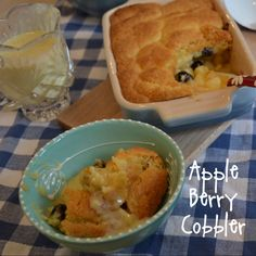 Apple and Blueberry Cobbler | whyiamnotskinny