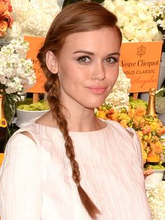 Holland Roden's Twisted Side Braid - Celebrity Hair Ideas For Holiday Parties - Seventeen