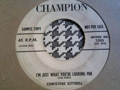 TOP R&B  Northern Soul 45  Christine Kittrell - I m Just What You re Looking For