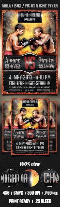 MMA / BOX / Fight Night flyer template