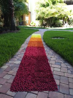 Autumn Park-Red, Orange, & Yellow Ombre Silk Rose Petal Aisle Runner-Fall Colors-Rustic Wedding (Contact The Shop to Place an Order) by PetaleDeRose on Etsy https://www.etsy.com/listing/293135687/autumn-park-red-orange-yellow-ombre-silk
